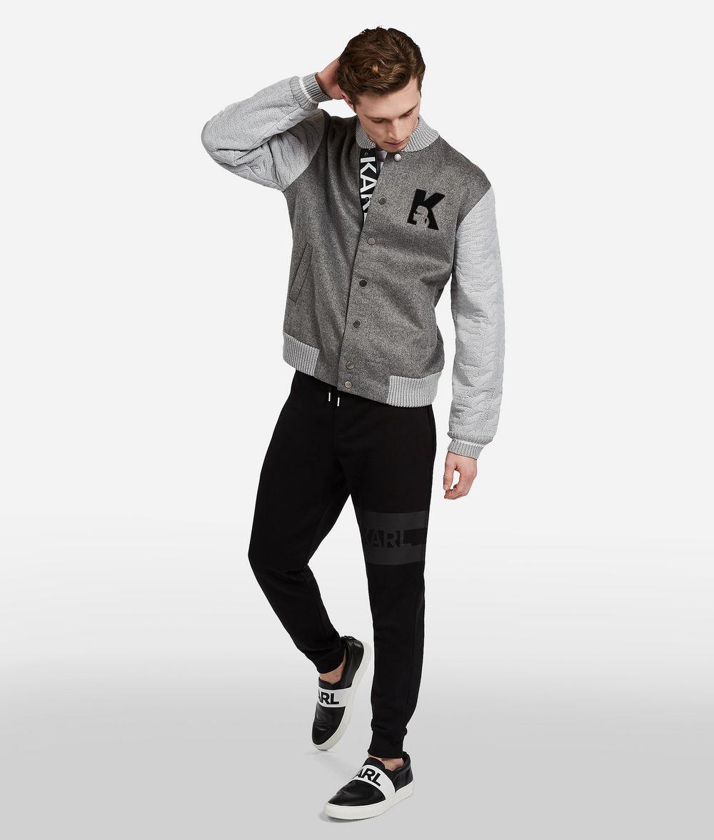 KARL LAGERFELD Wool Knit-Sleeve Jacket Jacket Man f