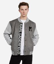 KARL LAGERFELD Wool Knit-Sleeve Jacket 9_f