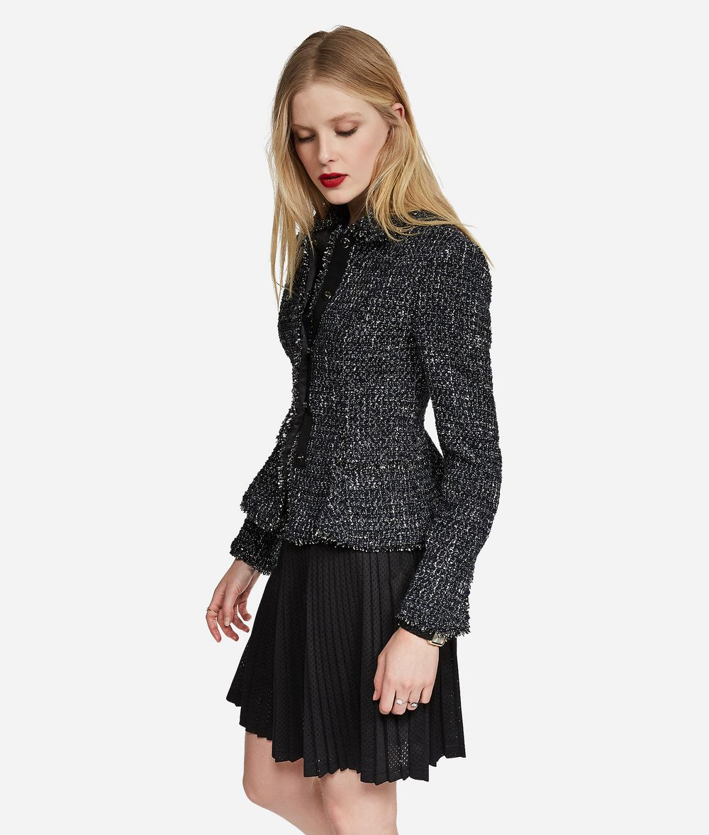 KARL LAGERFELD Lurex Bouclé Jacket Jacket Woman d