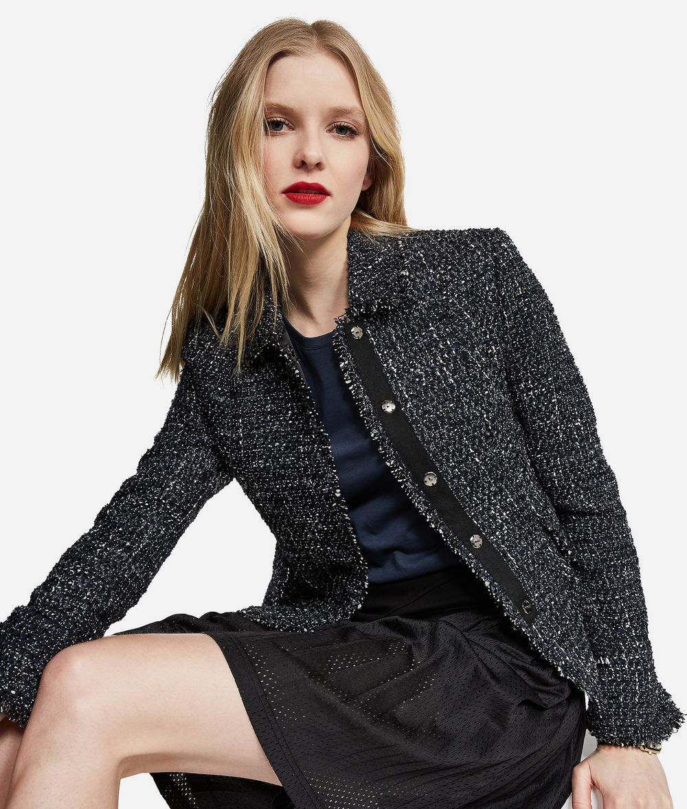 KARL LAGERFELD Lurex Bouclé Jacket Jacket Woman f