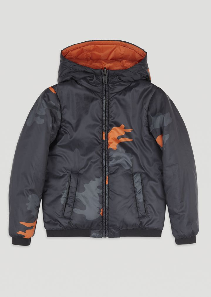 c270bfd015de Jacket with hood and camouflage print