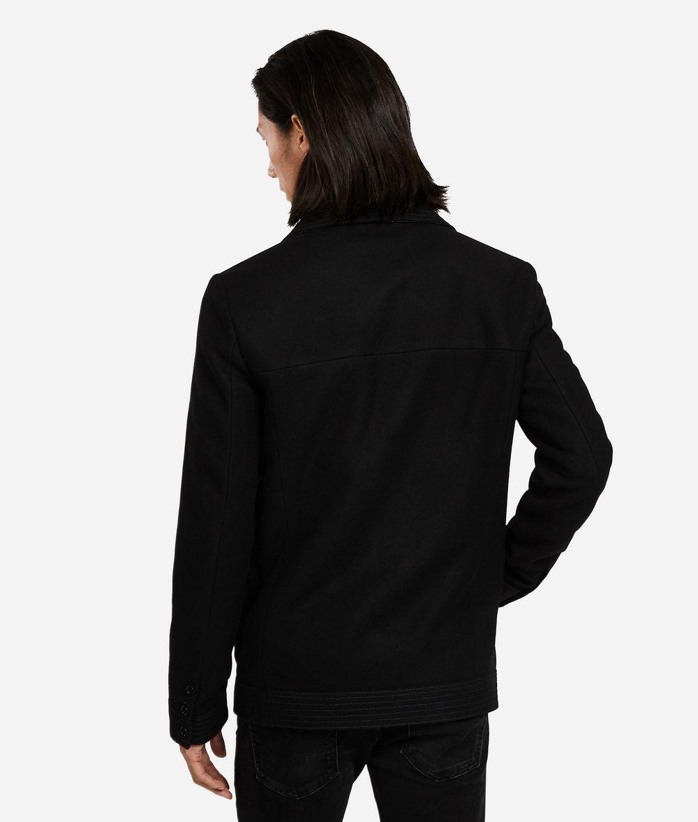 KARL LAGERFELD Wool-Cashmere Peacoat Jacket Man d