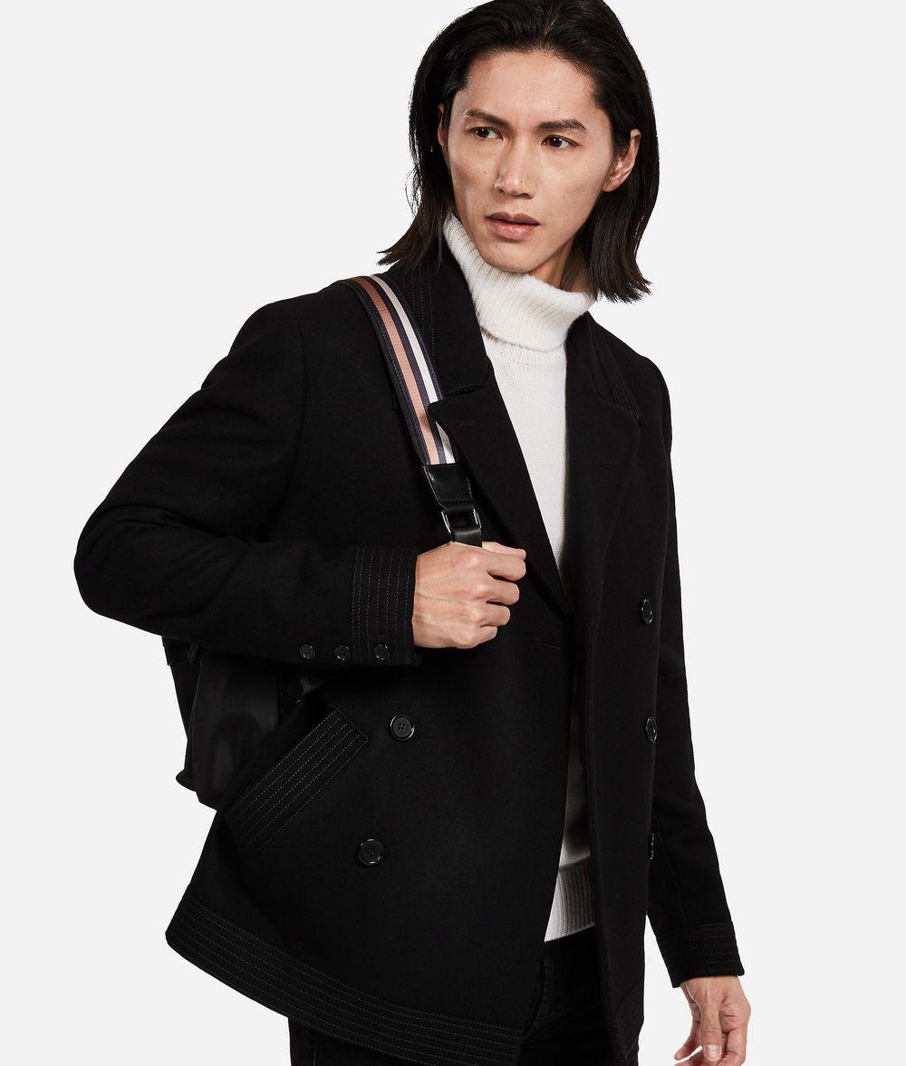KARL LAGERFELD Wool-Cashmere Peacoat Jacket Man f