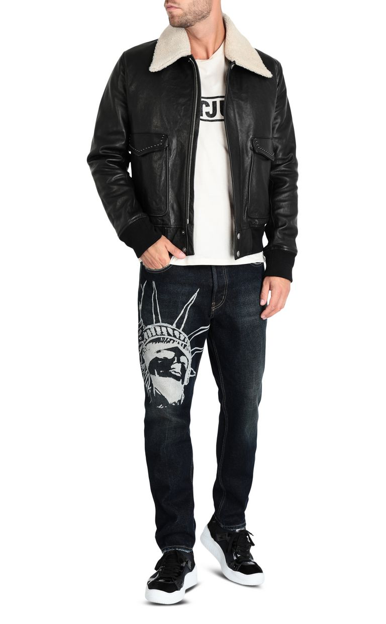 JUST CAVALLI Leather jacket Leather Jacket Man r