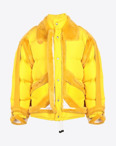 MAISON MARGIELA Light jacket Man Décortiqué puffer jacket f