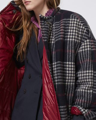 ISABEL MARANT COAT Woman HARRISON long quilted coat r