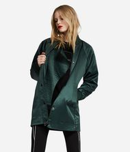 KARL LAGERFELD Bonded Satin Coat Jacket Woman a