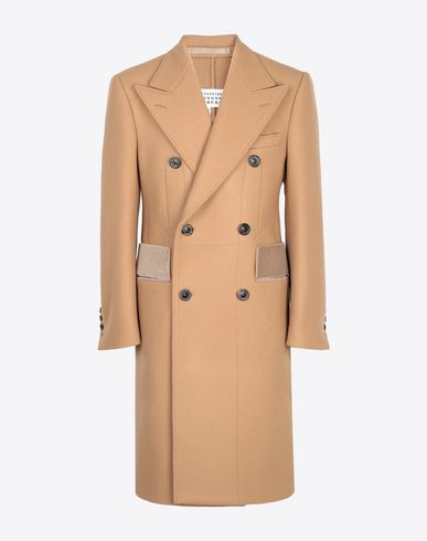 MAISON MARGIELA Coat Man Nutmeg double-breasted overcoat f