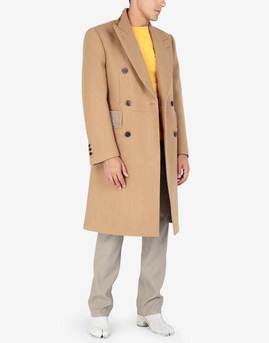 MAISON MARGIELA Nutmeg double-breasted overcoat Coat [*** pickupInStoreShippingNotGuaranteed_info ***] d