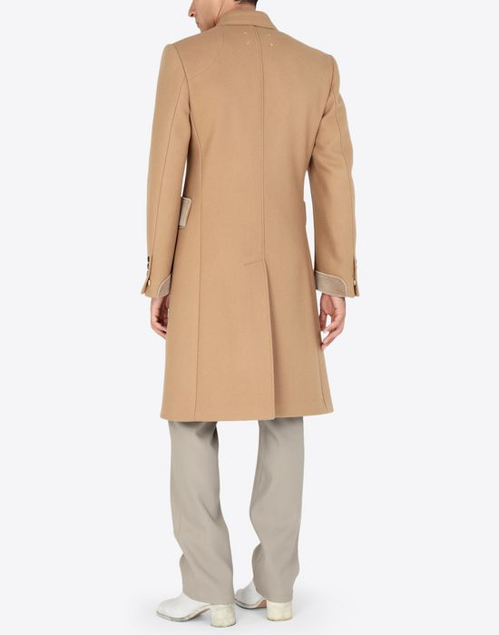 MAISON MARGIELA Nutmeg double-breasted overcoat Coat [*** pickupInStoreShippingNotGuaranteed_info ***] e