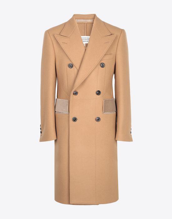 MAISON MARGIELA Nutmeg double-breasted overcoat Coat [*** pickupInStoreShippingNotGuaranteed_info ***] f