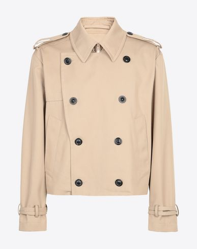 MAISON MARGIELA Jacket Man Cropped trench jacket f