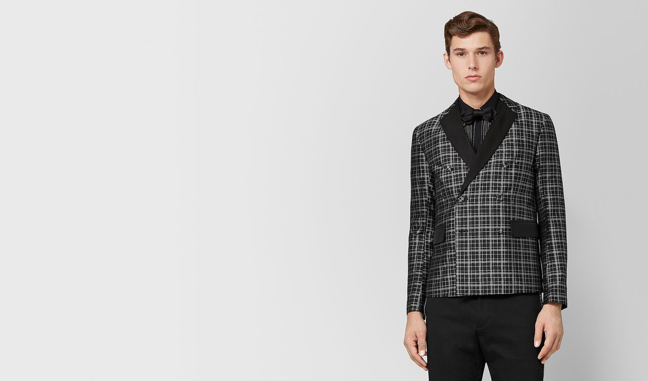 nero/bianco silk jacket landing