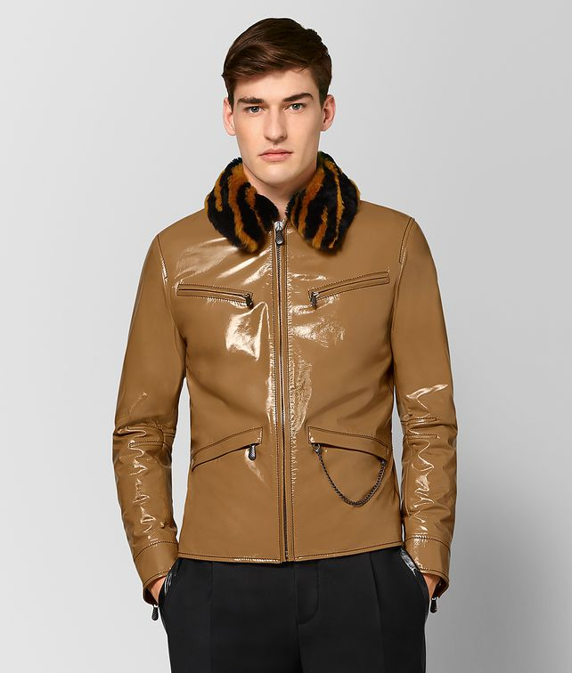BOTTEGA VENETA MULTICOLOR GLOSSY CALF/SHEARLING JACKET Outerwear and Jacket Man fp