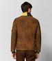 jacke aus shearling in dark leather Porträt, Rückseite