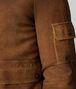 jacke aus shearling in dark leather Porträt, Rückendetail