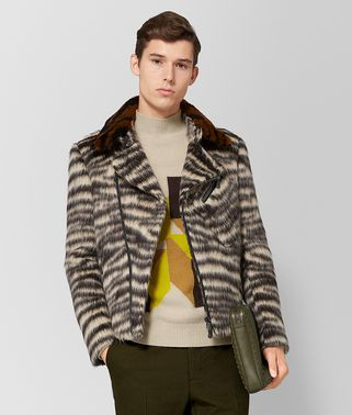 GIACCA IN LANA E SHEARLING MULTICOLOR