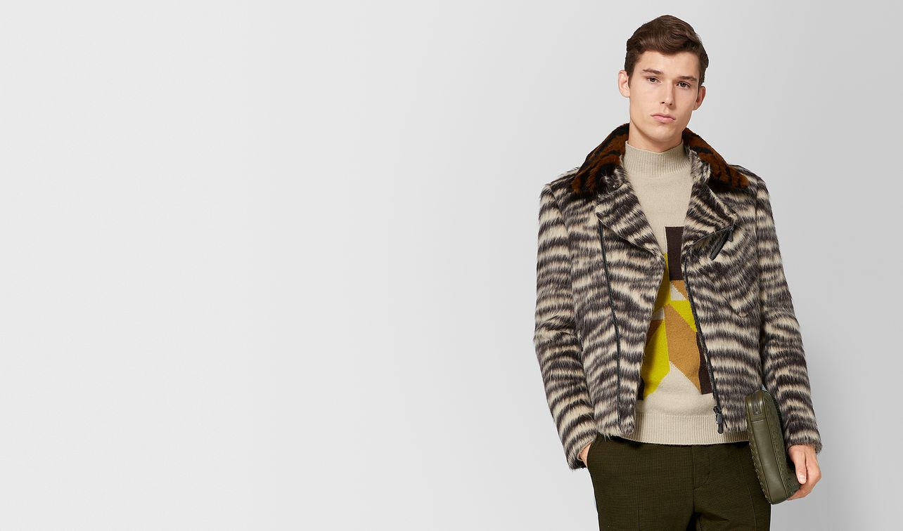multicolor wool/shearling jacket landing