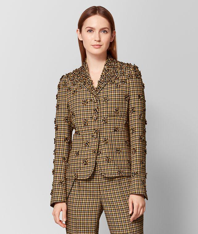 BOTTEGA VENETA DARK CAMEL/MUSTARD WOOL JACKET Outerwear and Jacket Woman fp