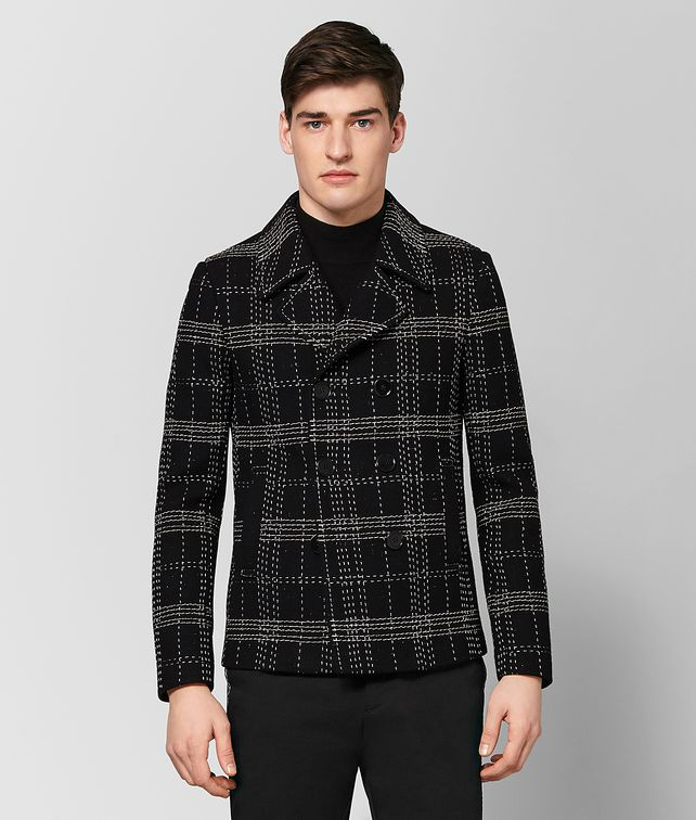 BOTTEGA VENETA NERO EMBROIDERED WOOL JACKET Outerwear and Jacket Man fp