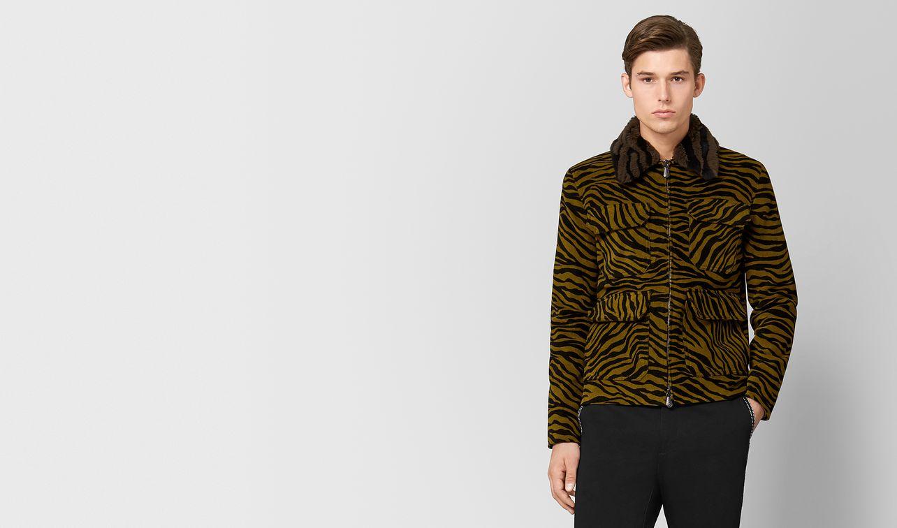 mustard/nero corduroy/shearling jacket landing
