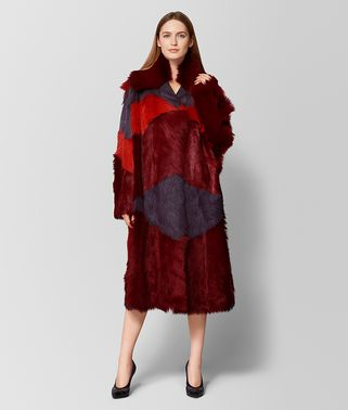 CAPPOTTO IN SHEARLING E SUEDE MULTICOLOR