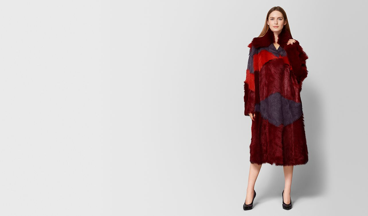 cappotto in shearling e suede multicolor landing