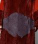 multicolor shearling/suede coat Front Detail Portrait