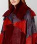 multicolor shearling/suede coat Back Detail Portrait