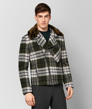 MULTICOLOR DOUBLE WOOL/SHEARLING JACKET