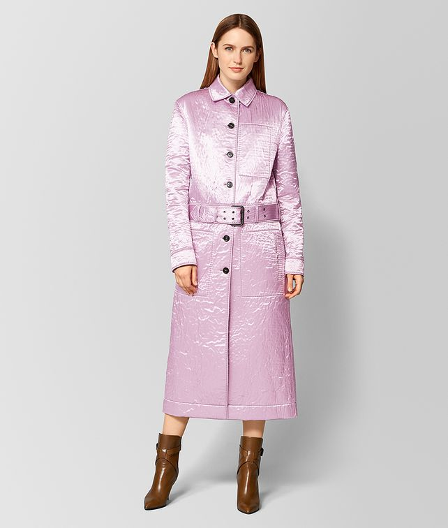 BOTTEGA VENETA ORCHID/LIGHT GREY SATIN/FELT COAT Outerwear and Jacket [*** pickupInStoreShipping_info ***] fp
