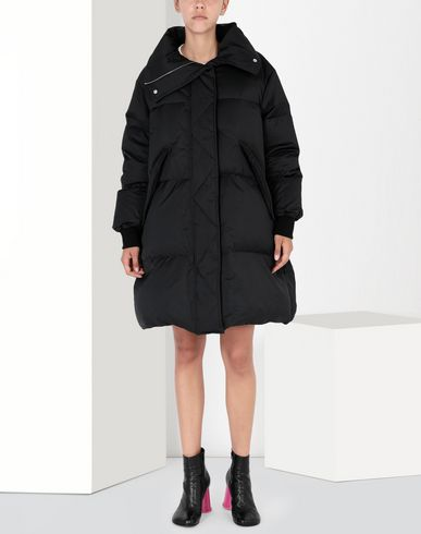 MM6 MAISON MARGIELA Mid-length jacket Woman Oversized puffed nylon sports jacket f