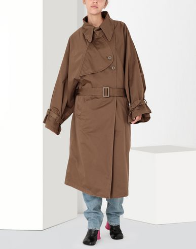 MM6 MAISON MARGIELA Coat Woman Long dyed trench coat f