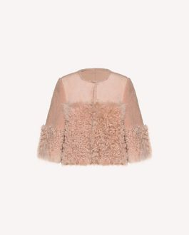 REDValentino OUTWEAR Woman QR3CA1P53SD 0NO a