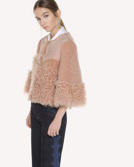 REDValentino Kalgan Fur detail shearling jacket