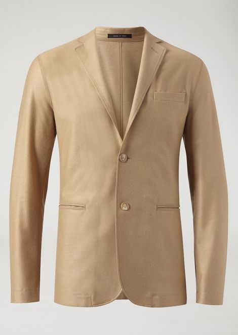 Single-breasted two-button jersey jacket