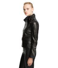 KARL LAGERFELD Studded Leather Biker Jacket  9_f