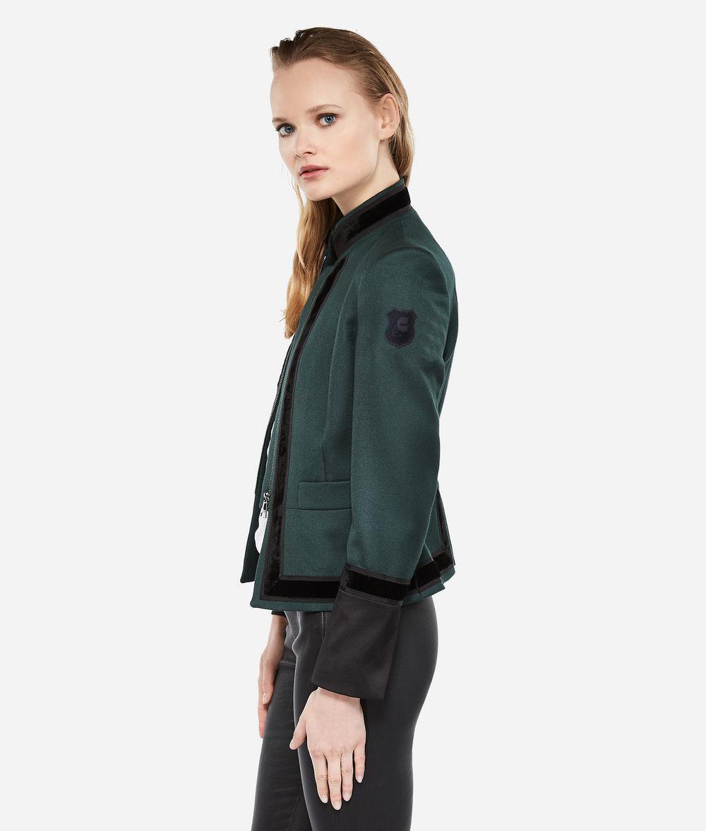 KARL LAGERFELD Virgin Wool Military Jacket Jacket Woman d