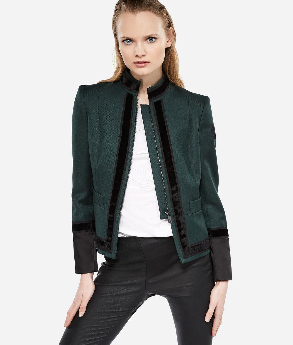 KARL LAGERFELD Virgin Wool Military Jacket Jacket Woman f