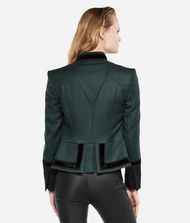 KARL LAGERFELD Virgin Wool Military Jacket 9_f