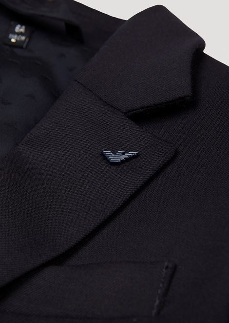 Two-button single-breasted jacket in pure virgin wool