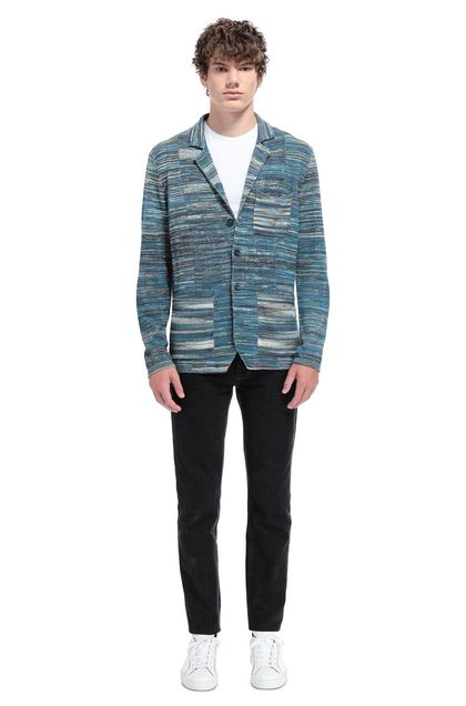 MISSONI Jacket Deep jade Man - Front
