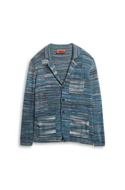 MISSONI Jacket Deep jade Man - Back