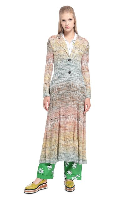 MISSONI Dust coat Orange Woman - Back