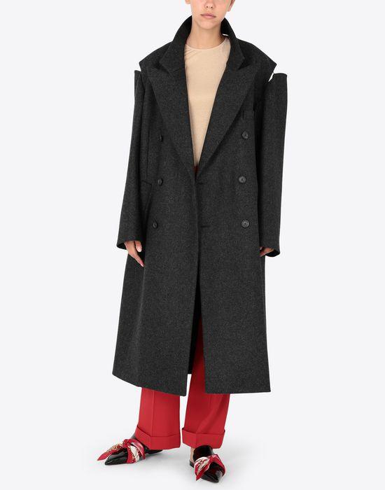 MAISON MARGIELA Coat with décortiqué details Coat [*** pickupInStoreShipping_info ***] d