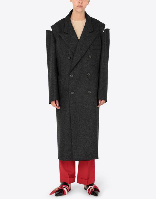 MAISON MARGIELA Coat with décortiqué details Coat [*** pickupInStoreShipping_info ***] r