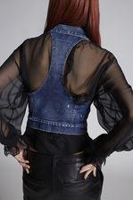 DSQUARED2 Medium Jean Vest Waistcoat Woman