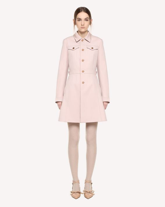 REDValentino Wool cloth denim-style coat
