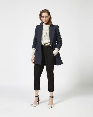 KLEA pea coat in cotton and wool