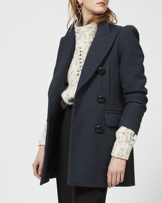 ISABEL MARANT COAT Woman KLEA pea coat in cotton and wool r